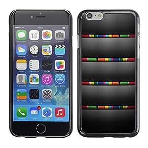 [Neutron-Star] Snap-on Series Teléfono Carcasa Funda Case Caso para Apple (4.7 inches!!!) iPhone 6 / 6S [Cepillado gris Colores rayas]