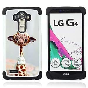 BullDog Case - FOR/LG G4 H815 H810 F500L / - / TOY WILD GIRAFFE FREE AFRICA ANIMAL STUFFED /- H??brido Heavy Duty caja del tel??fono protector din??mico - silicona suave