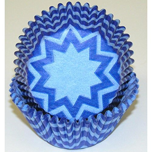 chevron blue cupcake liners - 8