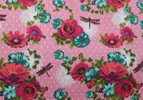 Hayley rose Daisy e libellula stampa zaino/zaino–-Swankyswans Pink