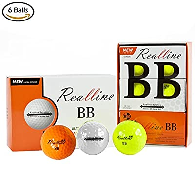 Extreme Ultimate Distance Golf Balls for Driver Iron and Accuracy Balance Aligned Golf Ball for Putt Alignment Precision Putting Green Side Control - USGA R&A Rule Conforming - 6 Count