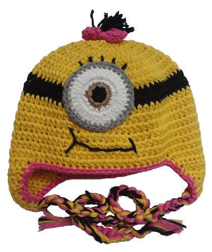 Belsen Hand Made Girl Boy Crochet Hat Knit Ski Cartoon Cap (Pink) for $<!--$13.95-->