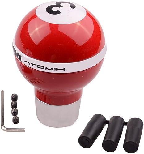 SMKJ Universal Auto Schaltknauf Gr/ün 2 Ball kugel Schaltkn/üppel Shifter Knob f/ür most Manuelles oder automatisches Getriebe Ohne RGA