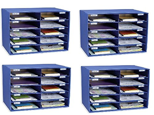 Classroom Keepers 10 Slot Sorter Mail Box and Literature Organizer (Pack of 4)