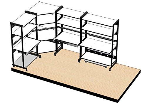 Kendall Howard 4- Post 60'' Workbench w/3x 24'' & 1x 30'' Shelves