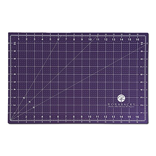 RORABACKS Premium Pleasantly Purple Self Healing Cutting Mat For Rotary Cutters And Quilting Rulers (11x17, Purple) by RORABACKS