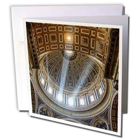 3dRose Elysium Photography - Architecture - St. Peters Basilica Detail, Rome, Italy - 12 Greeting Cards with envelopes (gc_289616_2)