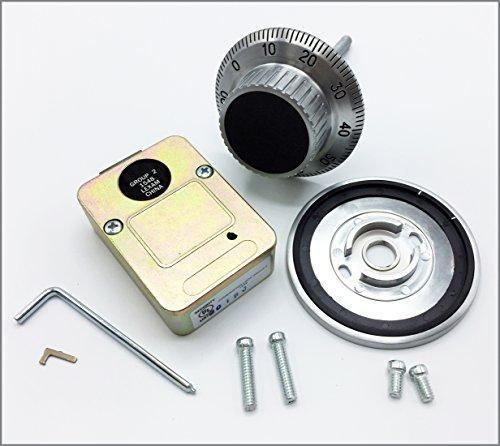 Group 2 Combination Mechanical Lock & Dial, (1548) 3 Wheel Deadbolt Lock, Security U.L. Listed. Standard Footprint to Replace LaGard, S&G, Kaba Mas.