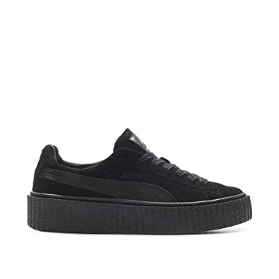 Puma Rihanna Suede Fenty Creepers Satin Black 362268-01 Women s UK ... dffb568d9