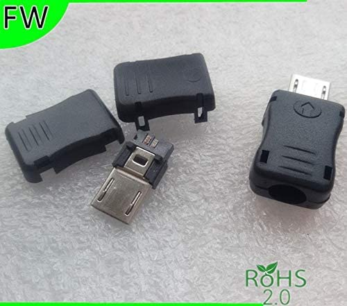 Plastic Cover for DIY Gimax 10pcs 5 Pin T Port Male Micro USB Plug Socket Connector