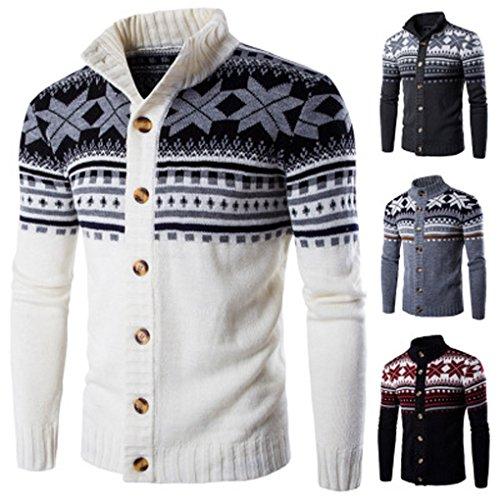 Mens Coat,Haoricu Autumn Men Rertro Elegant Knit Sweater Blouse Coat Winter Jacket Outwear