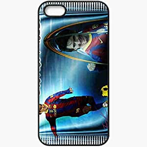 Personalized iPhone 5 5S Cell phone Case/Cover Skin Amazing nice lionel messi fc barcelona lionel andres messi Black by lolosakes