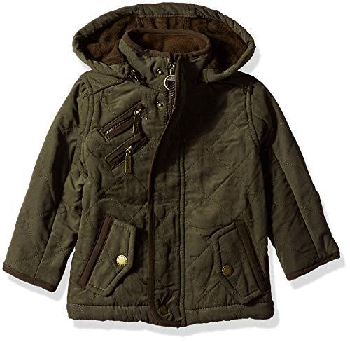 (Urban Republic Baby Boys Microfiber/Quilted Polar Fleece JKT, Olive, 24M)