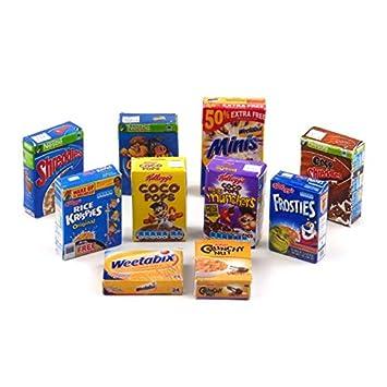 Amazon.es: MyTinyWorld Casa De Muñecas Miniatura Selección De 10 Cereales Para El Desayuno Cajas (CB4): Juguetes y juegos