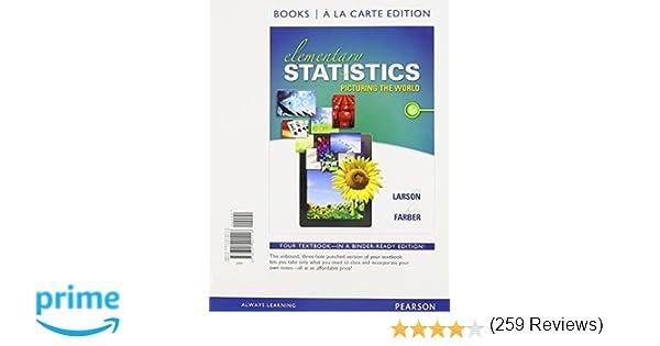 Amazon.com: Elementary Statistics: Picturing the World, Books a la ...