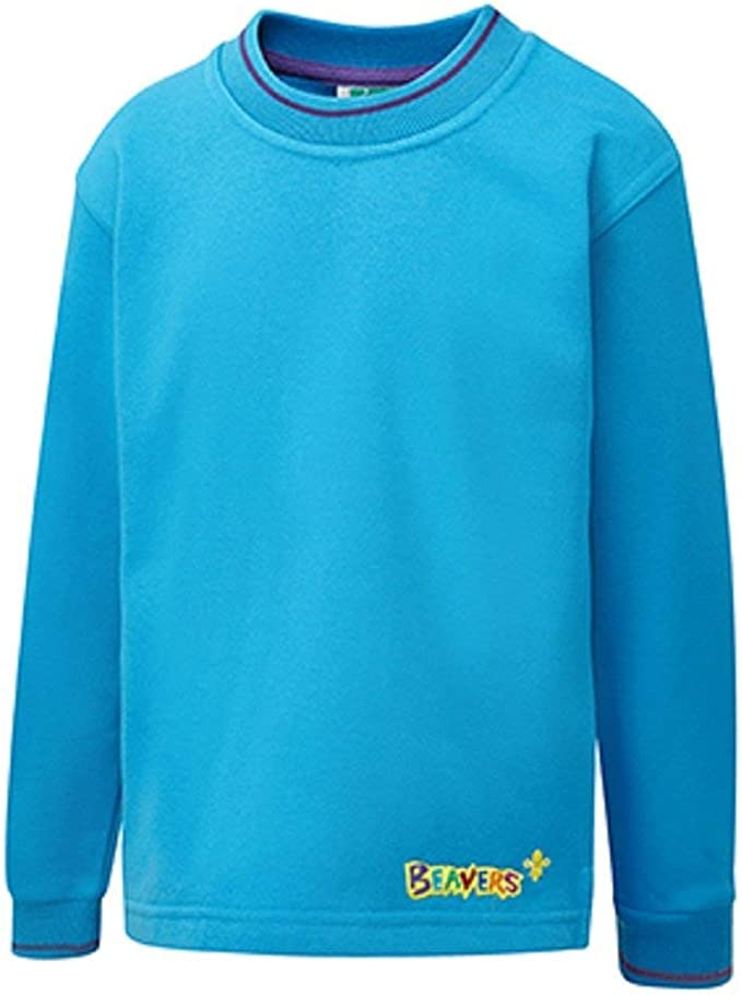 BEAVERS SWEATSHIRT SCOUT NEW STYLE OFFICIAL UNIFORM BOYS KIDS FREE DELIVERY