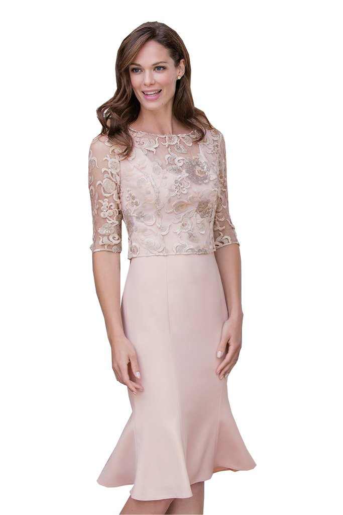 Fenghuavip 2 pcs Light Pink Mother of the Bridal Dress Lace Top by Fenghuavip (Image #2)
