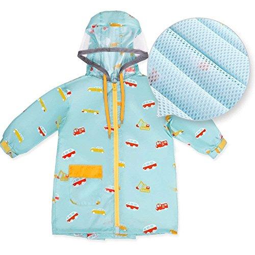 Capuchon À Casual Imprimé Enfants Imperméable Cape Outdoor Veste Large L'air Fashion Grande De Manteau Longues Taille Manches B Poncho Perméable Pluie gqqfO1