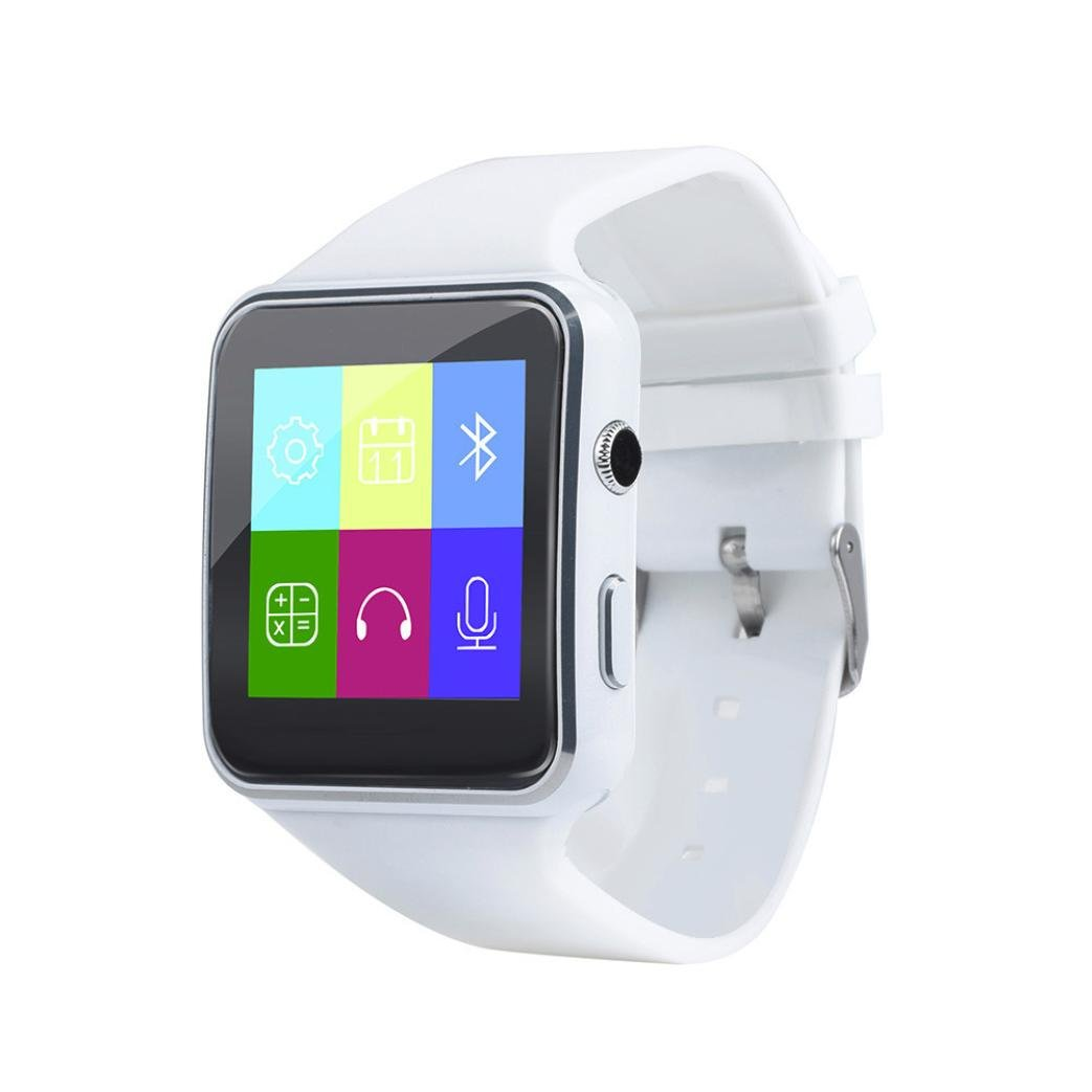 Kids/Adults Smart Watch - 2018 X6 BT3.0 Smart Watch Touch Screen 1.3MP Camera GSM SIM Phone Mate Narrow Border Screen For IOS Android Smart Phone (White)