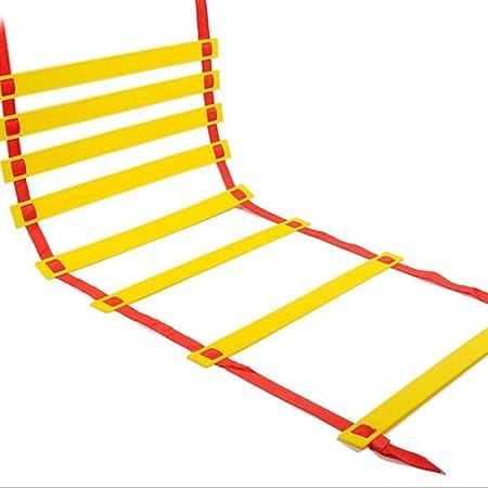 MJ-Soft Ladder Escalera de Agilidad de 3 a 10 m para Entrenamiento de fútbol con Funda de Transporte Negra (Color: Negro, tamaño: 5 Metros, 10 Tablas), Rojo, 9 Meters 18 boardsc: Amazon.es: Hogar