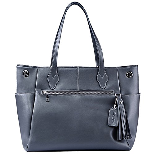 - Tote Bag AUGSOPA Women`s Fashion Business Jet Set Travel Durable Functional PU Synthetic Leather Large Roomy Carryall with Zipper Closure Trolley Luggage Sleeve 13
