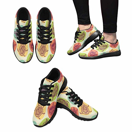 Interestprint Mujeres Jogging Running Sneaker Ligero Go Easy Walking Comfort Sports Zapatos Deportivos Patrón Con Tortugas