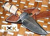 Custom Handmade Damascus Steel knife (59-40) (Colors/Case may vary)