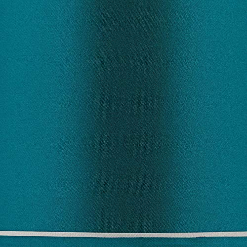 Sydnee Satin Teal Blue Drum Lamp Shade 14x16x11 (Spider) - Brentwood