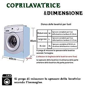 AKEfit tapa clasificada para la tapa de la lavadora, 60x 64x 85cm (L * W * H, adecuada para lavadoras y secadoras.