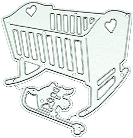Baby Crib Metal Cutting Dies DIY Stamps Die Cut Embossing Card Making Stencil