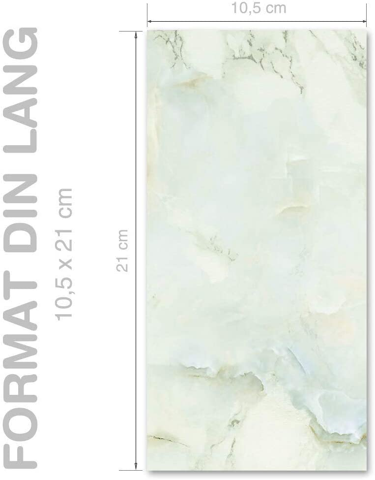 Briefpapier Marmor /& Struktur MARMOR HELLGR/ÜN Paper-Media DIN A4 Format 100 Blatt