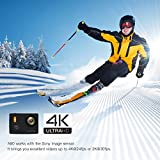 APEMAN 4K Action Camera 20MP Waterproof Cam Ultra 170º Wide-Angel lens with Wi-Fi 2 Inch LCD Display - 2 Pcs Rechargeable Batteries and Portable Package include Full Accessories Kits