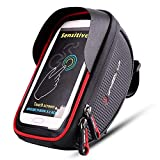 Bike Frame Bag, EletecPro Cellphone Bag Bike Waterproof Front Top Tube Bicycle Touchscreen Saddle Bag Rack Cycling Handlebar Bag Smartphones …