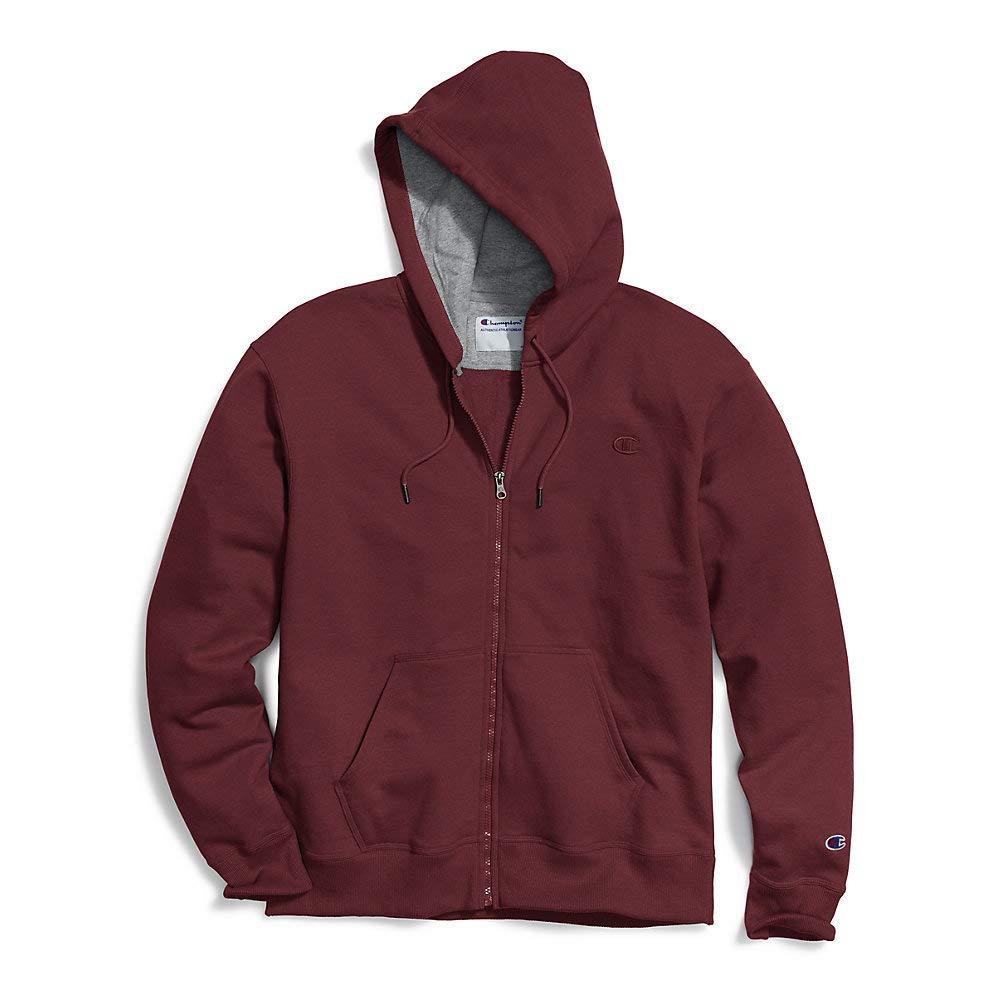 Champion Mens Big & Tall Full-Zip Fleece Hooded Jacket