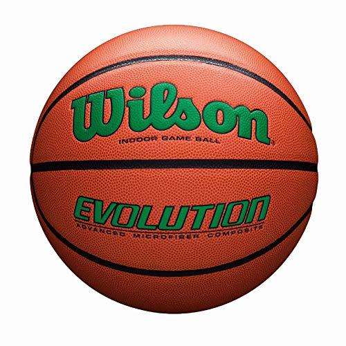 Wilson Evolution Game Basketball, Green, Official Size - 29.5