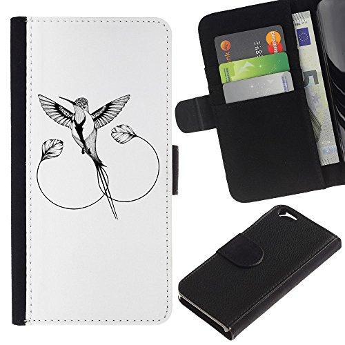 EuroCase - Apple Iphone 6 4.7 - The Mockingbird - Cuir PU Coverture Shell Armure Coque Coq Cas Etui Housse Case Cover