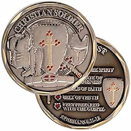 Collectible Coin Patriotic Spiritual Religious Soldiers Psalm Military Gifts by EC