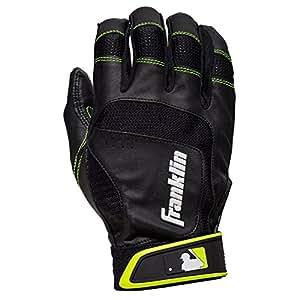 Franklin Sports Shok-Sorb Neo Batting Gloves Black/Optic Yellow Youth Medium