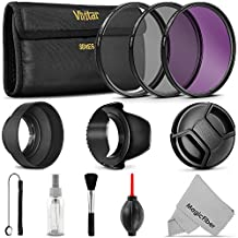 58MM Professional UV CPL FLD Lens Filter and Accessory Kit for Lenses with a 58mm Filter Size