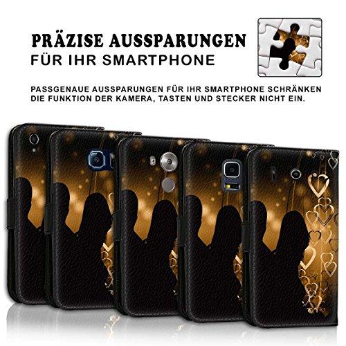 Wallet Book Style Flip Handy Tasche Case Schutz Hülle Schale Motiv Etui für Apple iPhone 4 / 4S - Design Flip MV142