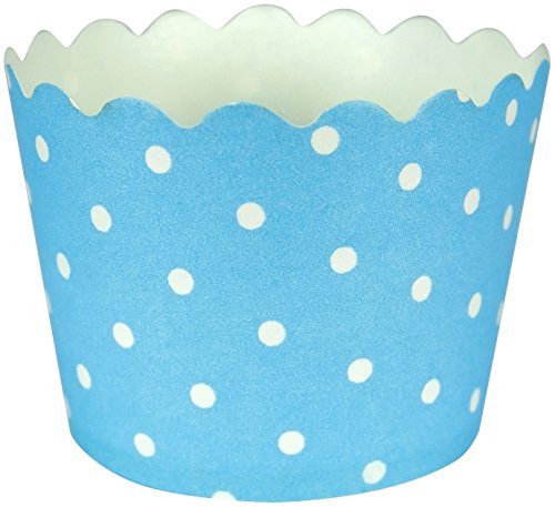 Creative Converting 12 Count Polka Dot Baking Cups, Pastel Blue