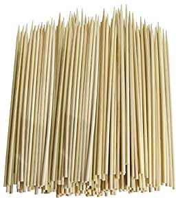 Pack of 300 Thin Bamboo Skewers (6 Inch)