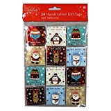 Christmas Hand Crafted Gift Tags - Cute and Colourful Design - Pack of 24 - Colour and Foil