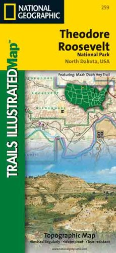 National Geographic Trails Illustrated Theodore Roosevelt National Park: North Dakota, USA ()