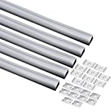 uxcell 5Pcs CN-612 1m Length 25mmx15mm LED Aluminum Channel System w Cover for LED Strip Light