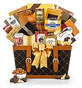 GiftTree Gourmet Food & Snack Gift Basket | Includes Weinrich, Ghirardelli and Lindt Chocolates, Assorted Nuts and Snacks | Perfect Holiday, Christmas, Birthday Gift