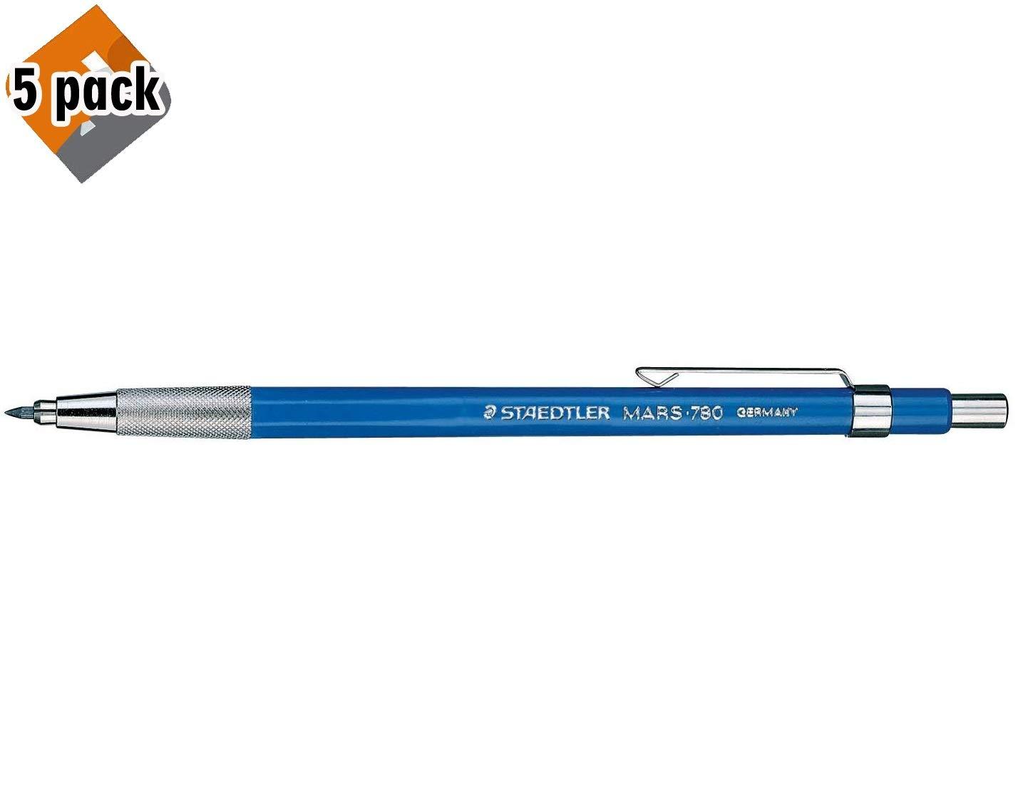 STAEDTLER Mars 780 Technical Mechanical Pencil, 2mm. 780BK 5 Pack by STAEDTLER
