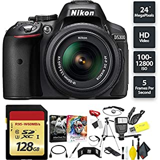 Nikon D5300 DSLR Camera + AF-P 18-55mm Lens + 128GB Memory Card Base Combo International Model (B07HKRC548) | Amazon price tracker / tracking, Amazon price history charts, Amazon price watches, Amazon price drop alerts