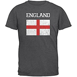 World Cup Distressed Flag England Adult T-Shirt