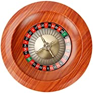Wooden Roulette Wheel Set,Turntable Leisure Table Games,Casino Grade Precision Bearings,SolidAluminumandChr